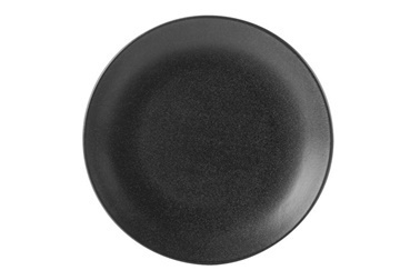 Porland Seasons Siyah Düz Tabak 18cm Renkli